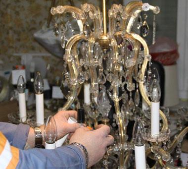 Réparation de luminaires, réparation de lampes